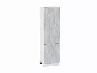 Шкаф пенал с 2-мя дверцами Валерия ШП600 в цвете серый металлик дождь
