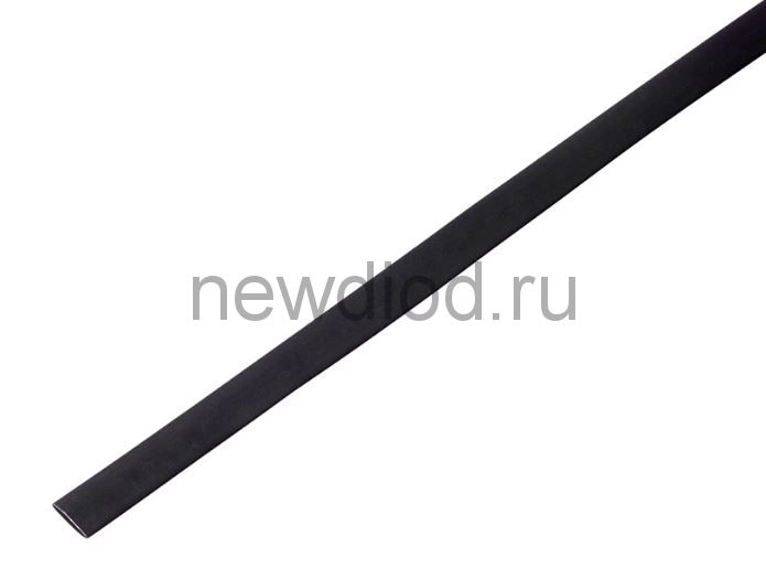 Термоусадочная трубка 14/7,0 мм, черная, упаковка 50 шт. по 1 м PROconnect