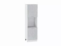 Шкаф пенал с 2-мя дверцами Валерия ШП600-Ф47 в цвете серый металлик дождь