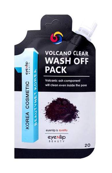 Маска очищающая с вулканическим пеплом Eyenlip Volcano Clear Wash Off Pack