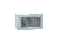 Шкаф верхний горизонтальный с увеличенной глубиной Сканди ВГ610 со стеклом Sky Wood