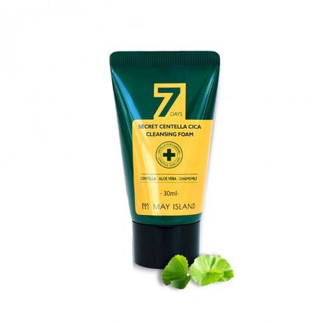 Очищающая пенка для проблемной кожи с экстрактом центеллы May Island 7 Days, 30 мл