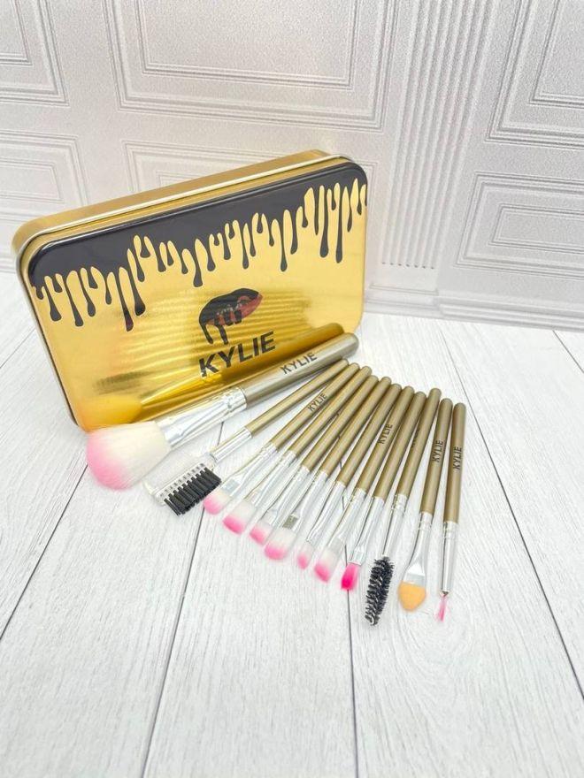 Набор кистей Kylie (Золотой) 12 штук (1361801)
