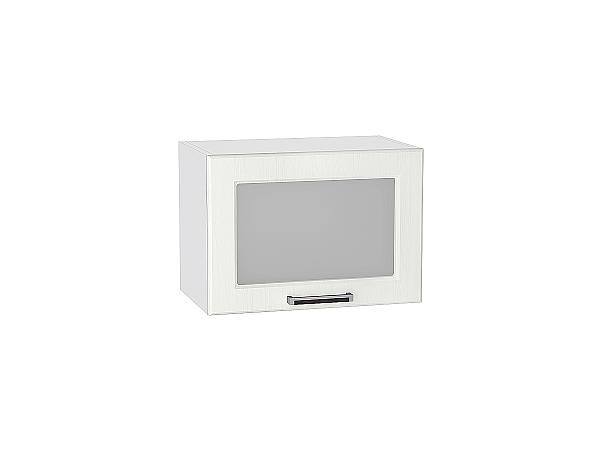 Шкаф верхний Прага ВГ510 со стеклом (Белое дерево)