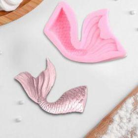 Молд силиконовый «Хвост русалки», 10×5,8 см