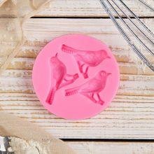 Молд силиконовый «Три птицы», 6,5×1,1 см