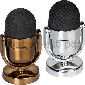 Точилка Brunnen + ластик Микрофон золотой/серебряный 29893-04