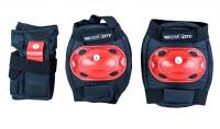 """Защита роликовая MaxCity """"Bug"""", цвет: черный, красный"""