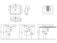 Тумба в комплекте с раковиной Hatria Bahia_13 60х46,5 схема 1