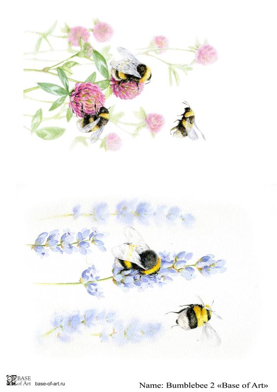 Декупажная карта Base of art, 20*30 см, Bumblebee 2