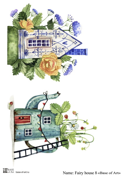 Декупажная карта Base of art, 20*30 см, Fairy house 8