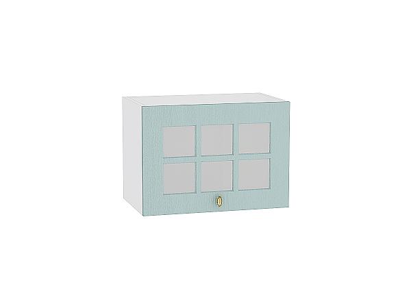 Шкаф верхний Прованс ВГ510 со стеклом (голубой)