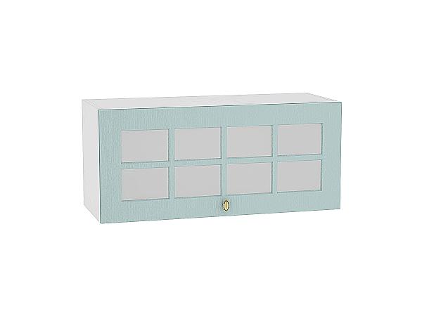 Шкаф верхний Прованс ВГ810 со стеклом (голубой)
