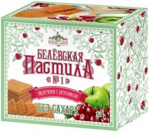 Пастила БЕЛЕВСКИЕ СЛАДОСТИ с брусникой, без сахара, 125г