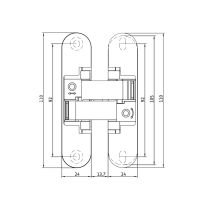 Скрытая петля Anselmi AN 170 3D ALU (528). схема