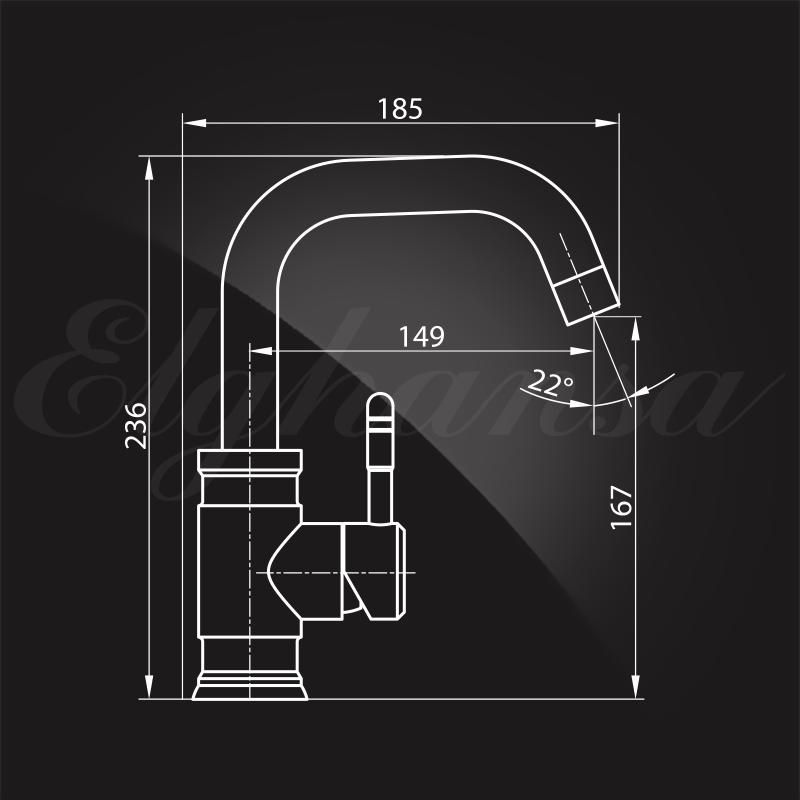 Смеситель для умывальника Elghansa STAINLESS STEEL 16A4548  однорычажный, хром