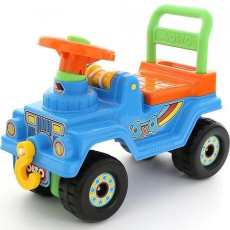 Каталка Джип 4*4 № 4 голубой 71811 П-Е