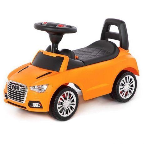 Каталка-автомобиль SuperCar №2 со звуковым сигналом оранжевая 84569 П-Е