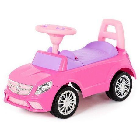 Каталка-автомобиль SuperCar №3 со звуковым сигналом розовая 84491 П-Е