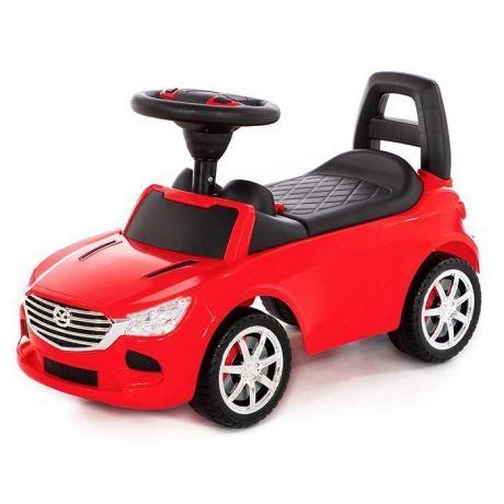 Каталка-автомобиль SuperCar №4 со звуковым сигналом красная 84507 П-Е