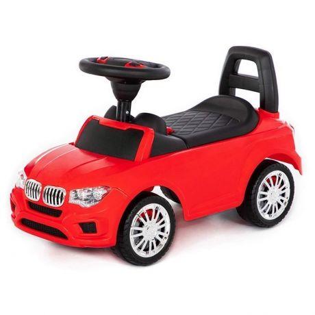 Каталка-автомобиль SuperCar №5 со звуковым сигналом красная 84583 П-Е