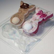 Форма для мыла и шоколада Кролики плоские Парочка