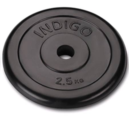 Диск обрезиненный INDIGO IN122 d26мм 2,5кг