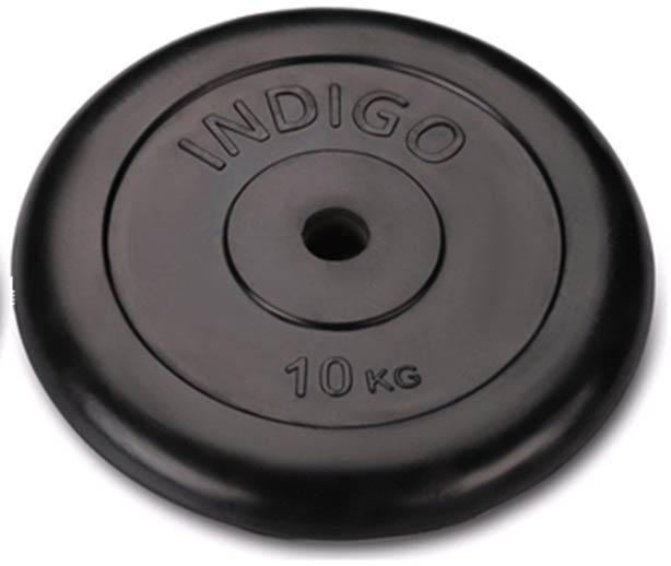 Диск обрезиненный INDIGO IN040 d26мм 10кг
