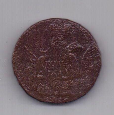 1 копейка облачник 1756 года R! Гуртовая надпись
