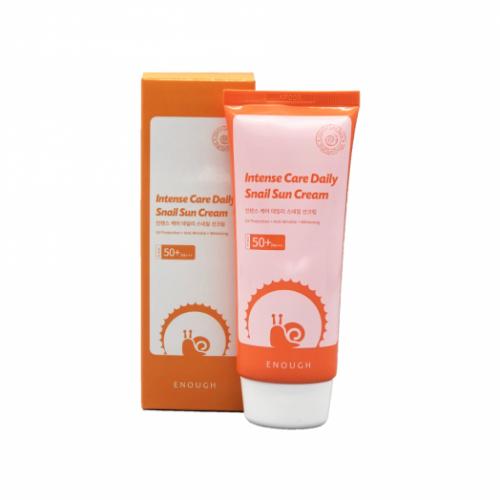494894 ENOUGH Солнцезащитный осветляющий крем для лица с муцином улитки Intense Care Daily Snail Sun Cream SPF50+ PA+++