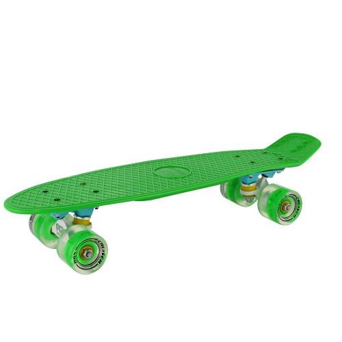 Мини-круизер PNB-01GW Green светящиеся колеса