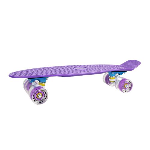 Мини-круизер PNB-01GW Violet светящиеся колеса