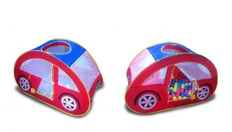 Игровой домик Ching-Ching CBH-07А Машина + 100 шариков
