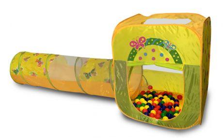 Игровой домик Ching-Ching CBH-23 квадратный + туннель + 100 шариков