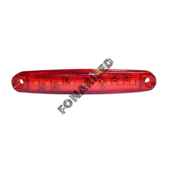 Светодиодные габариты на прицеп GF-U-9SMD-Red красный