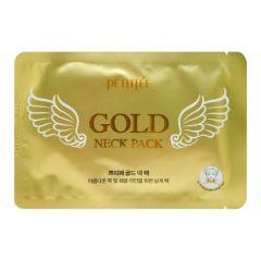 802995 Petitfee Гидрогелевая маска для шеи с золотом Gold Neck Pack