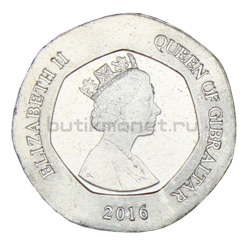 20 пенсов 2016 Гибралтар
