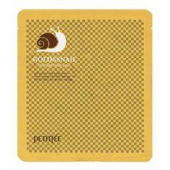 802889 Petitfee Гидрогелевая маска для лица с золотом и улиточным муцином Gold & Snail Mask Pack