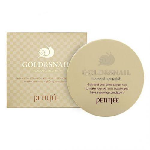 802872 Petitfee Гидрогелевые патчи для глаз Gold & Snail Eye Patch