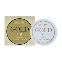 800618 Petitfee Гидрогелевые патчи для кожи вокруг глаз с золотом Gold & EGF Eye•Spot Patch
