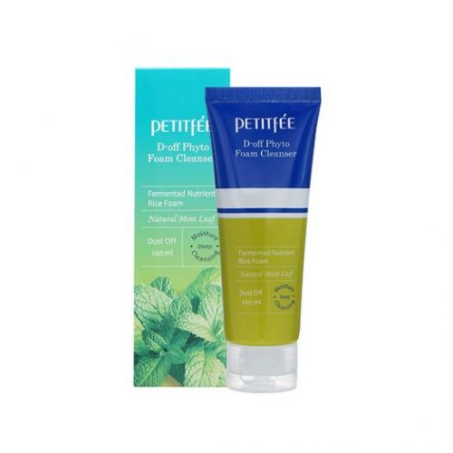 041545 Petitfee Глубоко очищающая пенка-скраб D-off Phyto Foam Cleanser