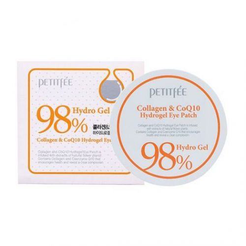 800458 Petitfee Гидрогелевые патчи с коллагеном Collagen & CoQ10 Hydroge Eye Patch