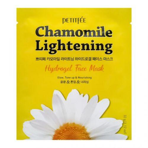 850436 Petitfee Гидрогелевая маска экстрактом ромашки Chamomile Lightening Hydrogel Face Mask