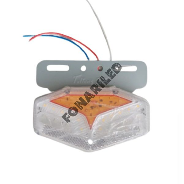 Светодиодные габариты на прицеп GF-U-25SMD-Orange оранжевый с подсветкой