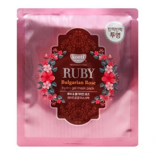 802544 Koelf Гидрогелевая маска с рубиновой пудрой и болгарской розой Ruby Bulgarian Rose Mask Pack