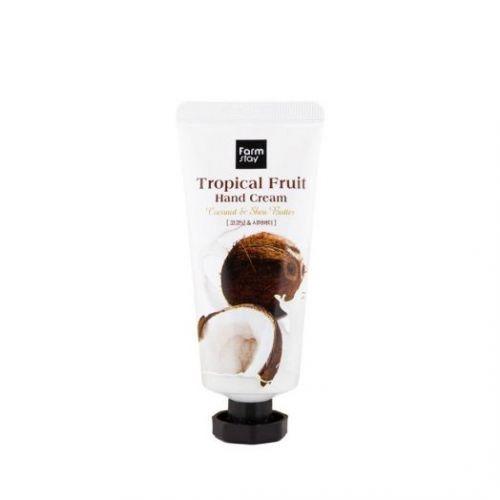 """300405 FarmStay Крем для рук """"Тропические фрукты"""" с кокосом и маслом ши Tropical Fruit Hand Cream Coconut & Shea Butter"""