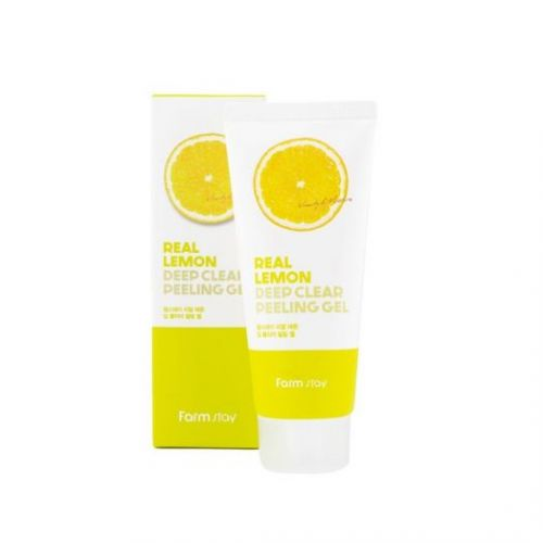 959358 FarmStay Отшелушивающий гель с экстрактом лимона Real Lemon Deep Clear Peeling Gel