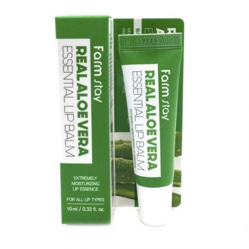 883218 FarmStay Суперувлажняющий бальзам для губ с алоэ Real Aloe Vera Essential Lip Balm