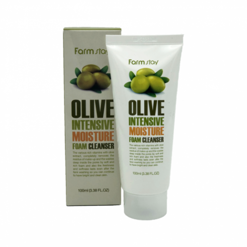 284781 FarmStay Увлажняющая пенка для умывания с экстрактом оливы Olive Intensive Moisture Foam Cleanser