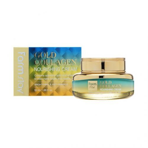 230491 FarmStay Питательный крем с золотом и коллагеном Gold Collagen Nourishing Cream